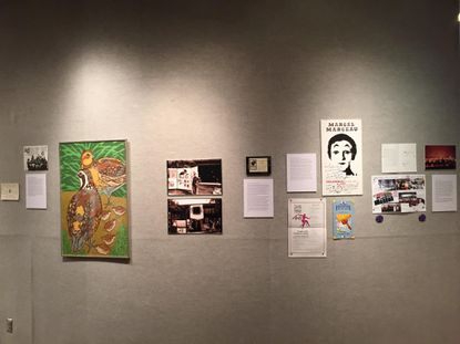 """Items in the exhibit, """"The HeART of Columbia: Creating community with art."""""""