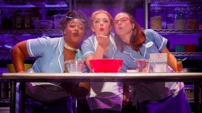 """Charity Angel Dawson, left, Desi Oakley and Lenne Klingaman in national tour of """"Waitress."""""""