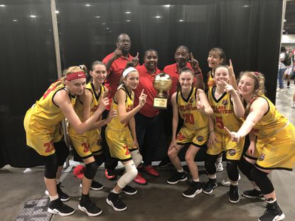 Maryland Hoopmasters girls 10th grade team recently won a national tournament title in Georgia.