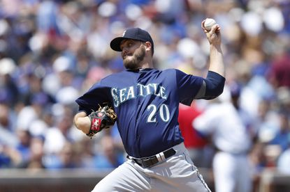 Wade Miley, shown with the Mariners, will join the Orioles.