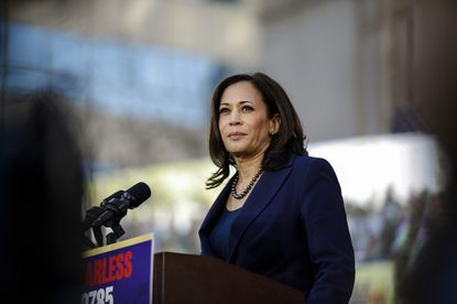 U.S. Sen. Kamala Harris kick started her presidential campaign at a rally in her hometown of Oakland, Calif., on Jan. 27, 2019.