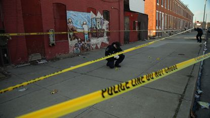 A Baltimore crime scene from 'Baltimore: Anatomy of an American City,' from Al Jazeera English.