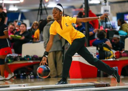 Jazzleen McRae is the president of Coppin State's Student-Athlete Advisory Committee, as well as a bowler for the Lady Eagles.