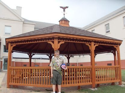 James Heuser, a Boy Scout with Troop 828 in Luthervile, coordinated the construction and fundraising efforts of a new gazebo at the Perry Point VA Medical Center as part of his Eagle Scout project.