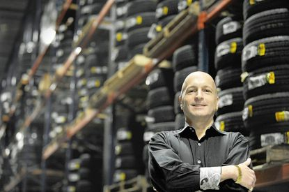 Joseph Tomarchio Jr., co-founder of the Mr. Tire chain, has been the company's at-first reluctant pitchman for years.