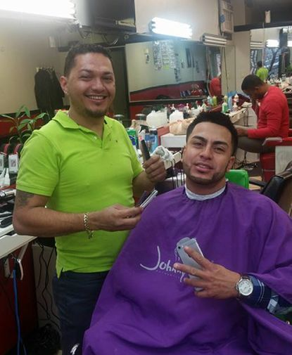 Honduran barber Serbando Rodriguez, left, cut hair in Southeast Baltimore until he was arrested Feb. 9 by Immigration and Customs Enforcement agents. He now faces deportation.