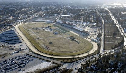 Aerial view of Pimlico Race Course.
