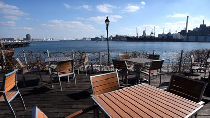 Look out over the Patapsco River at this Thames Street establishment. The restaurant features about 20 tables outdoors, plus two greenhouses that guests can reserve for extra privacy. 1417 Thames St., Fells Point. 443-681-5310. ampersea.com.