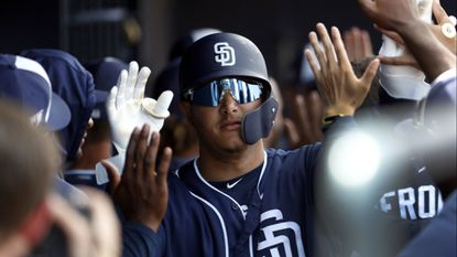 Machado, Myers homer; Strahm shines in Padres' loss to Brewers