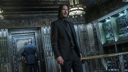 """Keanu Reeves returns as the moody assassin for the third installment in the """"John Wick"""" franchise."""