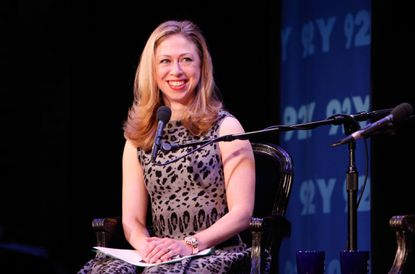 NEW YORK - MARCH 28: Moderator Chelsea Clinton speaks at Women In Politics Panel With Chelsea Clinton hosted by Glamour magazine at 92nd Street Y on March 28, 2012 in New York City.