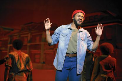"""Jarran Muse as Marvin Gaye in """"Motown the Musical,"""" playing Hippodrome March 2016."""