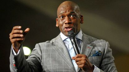 Pastor Jamal Bryant was arrested Tuesday for praying in front of Speaker of the House Paul Ryan's office in Washington, D.C. in an attempt to bring attention to the plight of African immigrants.