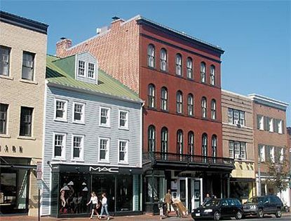 Shops and restaurants in restored Colonial and Victorian buildings are part of M Street's charm.
