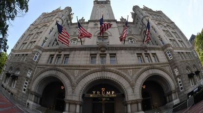 The Trump International Hotel in Washington, D.C., shown in this file photo is at the heart of the suit filed by lawyers for Maryland and the District of Columbia alleging President Donald Trump is accepting illegal payments from foreign officials.