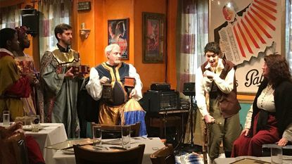 "Opus Concert Theatre's production of ""Amahl and the Night Visitors"" was performed at Germano's Piattini in Baltimore's Little Italy on Dec. 16. It is slated to play at Slayton House Dec. 21-23."