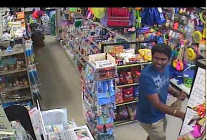 Delaware State Police released this surveillance photo of Pawan Kumar, 26, of Wilmington, Del., who was being sought on a charge of first-degree murder in the death of Danielle Mehlman, 26, of Bensalem, Penn. Kumar was later found dead in a motel in Belleville, N.J.