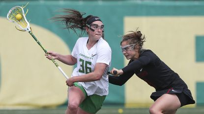 Shannon Williams recently closed out a record-setting women's lacrosse career for the University of Oregon Ducks.