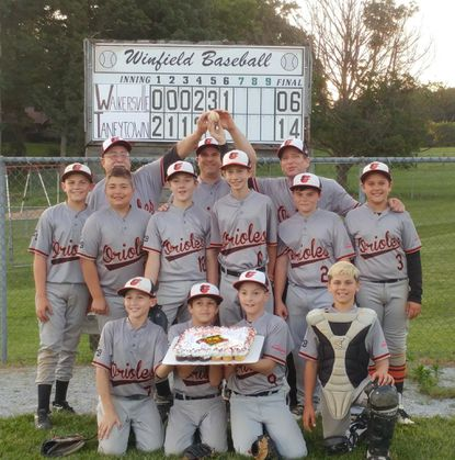 The Taneytown Orioles won this year's under-12 championship in the Frederick County Cal Ripken Baseball League. They won all 14 regular season games and then swept three more to take the playoffs.