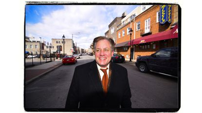 David Warnock, a businessman who wants to turn the city around