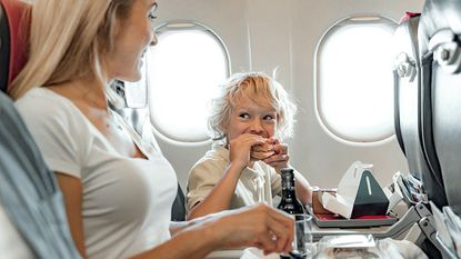 If you are concerned about bringing liquid motion sickness relievers on a plane trip, consider packing tablets, candy, or wristband types.