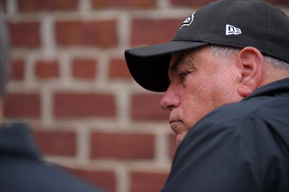 Ravens defensive coordinator Dean Pees following preseason training at the Under Armour Performance Center in Owings Mills, on Aug. 7, 2015.
