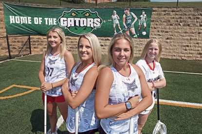 From left, four St. Paul's girls lacrosse seniors, Christina Gagnon, Paris Colgain, Caitlin McElwee, and Leah Warehime, will play in the the Under Armour All-America Game Saturday night at Johns Hopkins' Homewood Field.