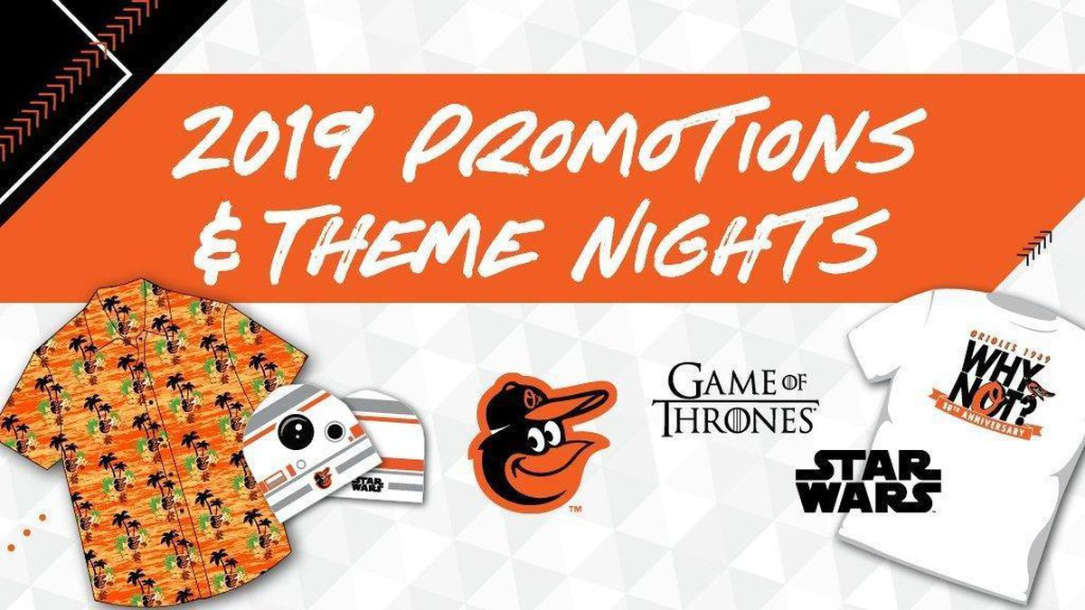 Orioles announce 2019 promotional schedule