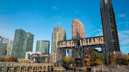 The waterfront of Long Island City in the Queens borough of New York, is seen Nov. 7, 2018, along the East River. Amazon is reportedly planning to split its second headquarters. Two areas are surfacing in reports: Long Island City and the Crystal City area of Arlington, Va.