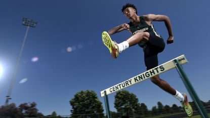 Century senior Jalen Stanton is the 2019 Carroll County Times Boys Track and Field Athlete of the Year.