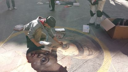 Italian artist Matteo Appignani will create a new work at this weekend's Madonnari Arts Festival in Little Italy.