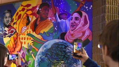 New mural at Fallston High School seeks to promote inclusiveness among student body