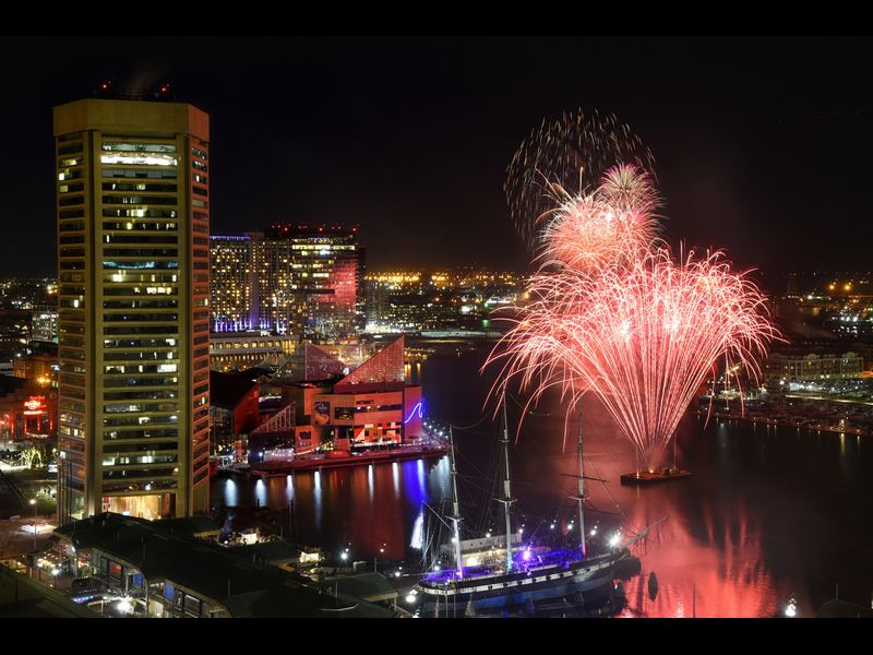 Where to find the best view of Baltimore's New Year's Eve
