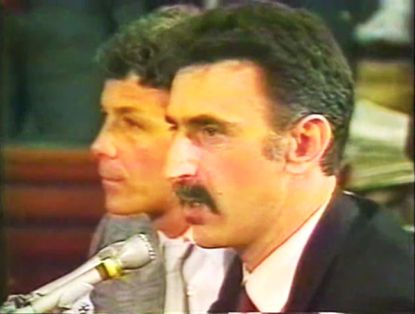 "Frank Zappa testifies at Congress' ""porn-rock"" hearings 30 years ago."