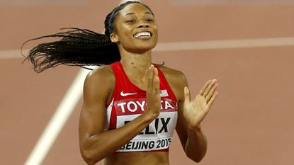 Track trials get out of the blocks with Allyson Felix
