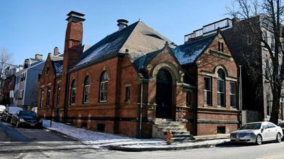 This building at 1401 Light St. is a former Pratt Library branch now used as a venue for wedding receptions and other events.
