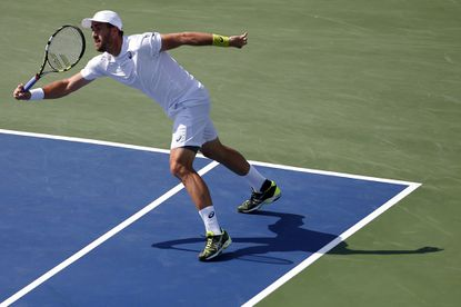 Steve Johnson ended qualifier Ryan Harrison's season-best run by winning the all-American matchup, 6-4, 6-4, to reach the Citi Openquarterfinals.