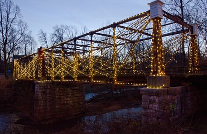 Walk across the Bollman Truss Bridge, an antique iron truss bridge in Savage, during the New Year's Eve or New Year's Day walks organized by Free State Happy Wanderers.
