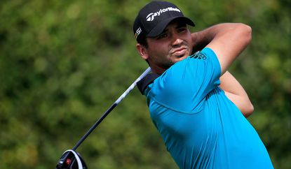 Jason Day hits his tee shot on the ninth hole during the first round of the Arnold Palmer Invitational on Thursday.