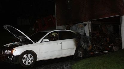 A fire that began in the garage of a home on Calvary Road in Harford County Wednesday night caused about $200,000 in damages.