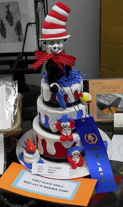Cat in the Hat by Erin Long won the first place award as the Best Cat in Manikin Town in the adult category in last year's art contest to benefit the Humane Society of Harford County.