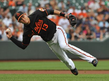 Orioles third baseman Manny Machado emerged as one of baseball's top defensive players last season.