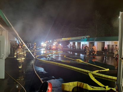 Approximately $1 million in damage was sustained by a pair of car businesses in the 1200 block of Bel Air Road in a fire that investigators believe was intentionally set June 20.