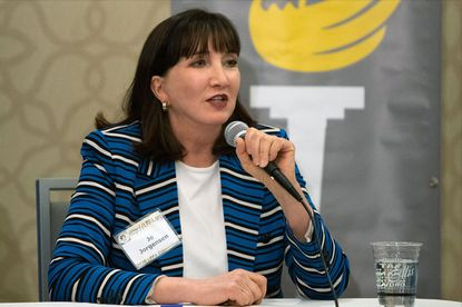 Jo Jorgensen of South Carolina is the 2020 Libertarian candidate for president.