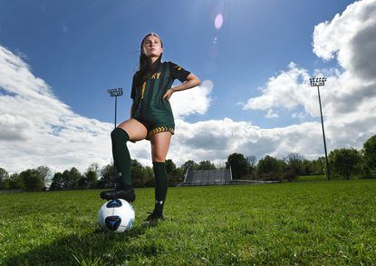 Century High School junior Haley Greenwade is the Carroll County Times Girls Soccer Player of the Year for the spring 2021 season.