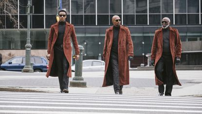 "Jessie Usher, from left, Samuel L. Jackson and Richard Roundtree star in the new ""Shaft."""