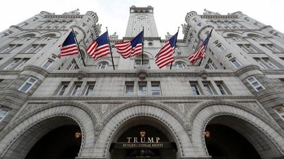 FILE - This Dec. 21, 2016 file photo shows the Trump International Hotel at 1100 Pennsylvania Avenue NW, in Washington.