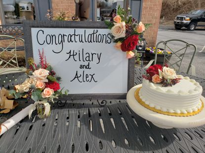 On March 20, Hilary and Alex Chiang celebrated their wedding at the train station located in the Blossom and Basket Boutique parking lot in Mount Airy. The had to quickly adjust their plans after the venue for their planned wedding was forced to close because of the coronavirus pandemic.