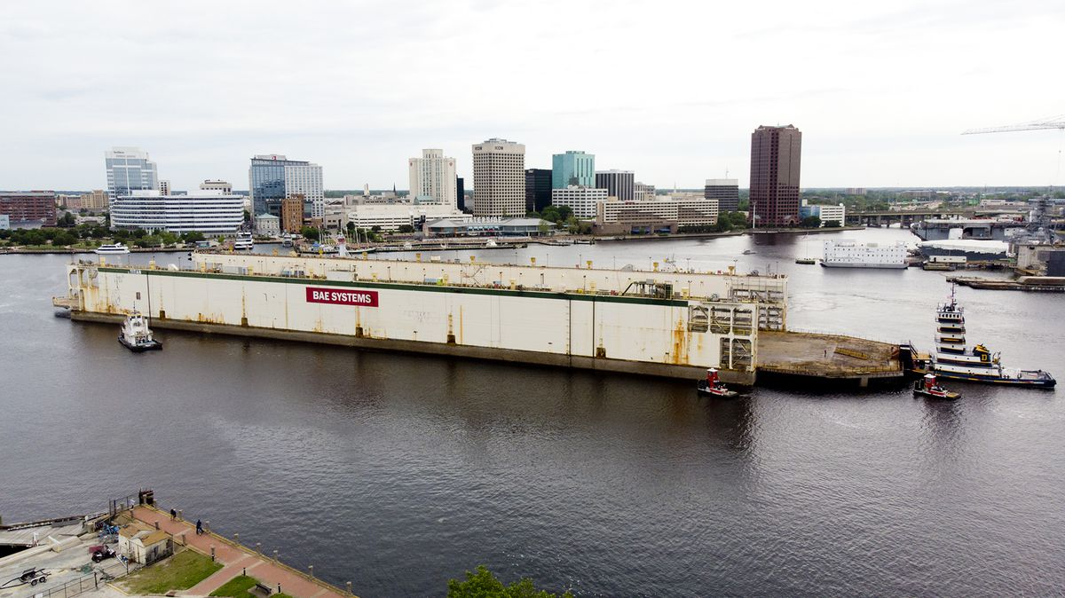 'Titan' floating dry dock from Norfolk could usher in new era of vessel maintenance in Baltimore County's Sparrows Point