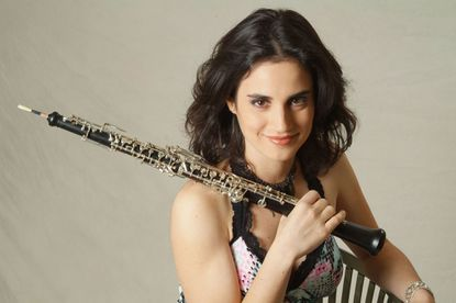 BSO musician Katherine Needleman with an oboe. A one-of-a-kind oboe was stolen from her in Montreal.
